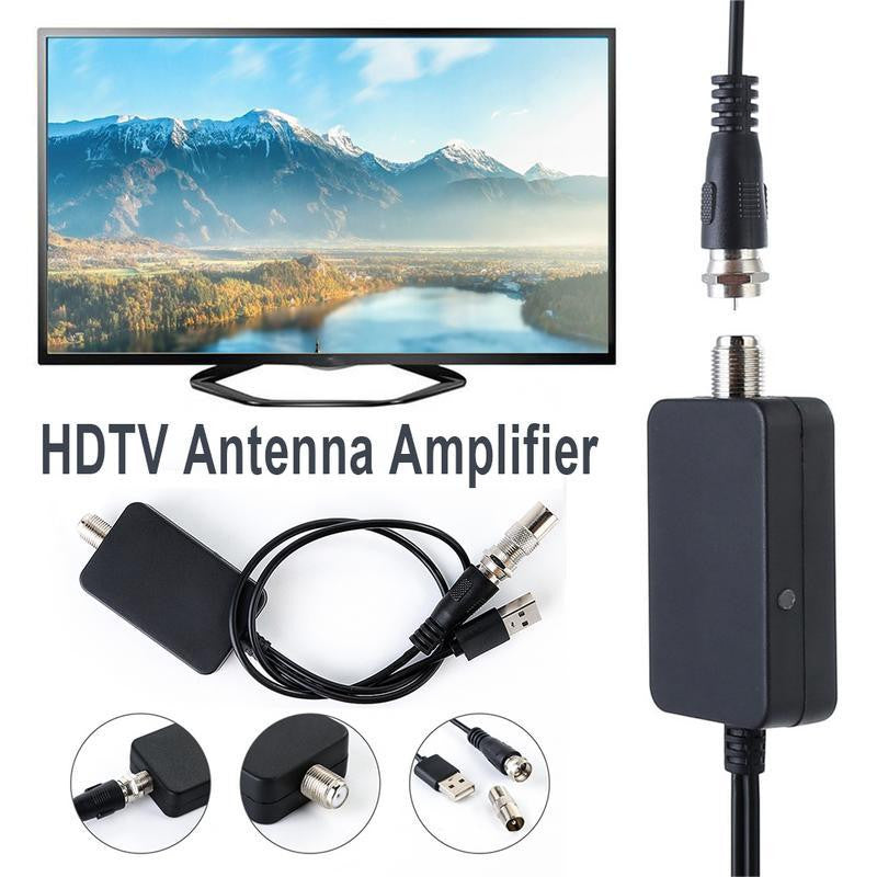New Hot 25dB Digital HD TV Aerial Amplifier Signal Booster Amplifier TV Antenna Adapter with USB for TV Fox Aerial Dropshipping