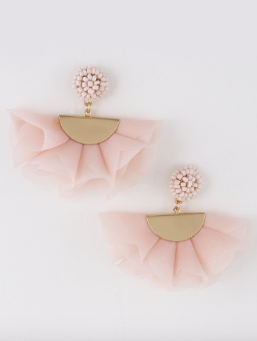 Floral Tulle Statement Earring