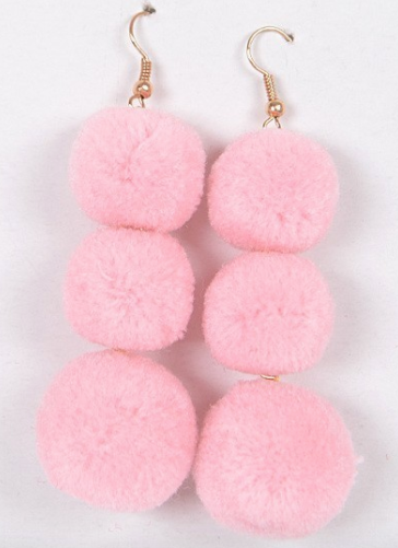 Say Hello to my Little Pom Earrings