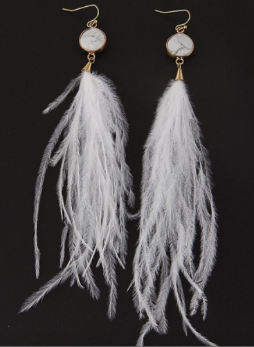 Won't You Bring Me Along Feather Earrings