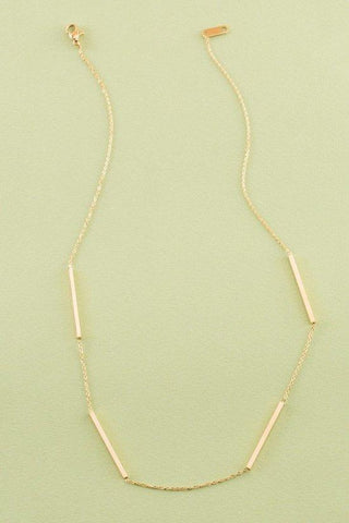 DAINTY BAR AND CHAIN NECKLACE 16""