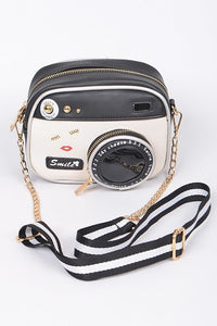 SAY CHEESE CAMERA CROSSBODY