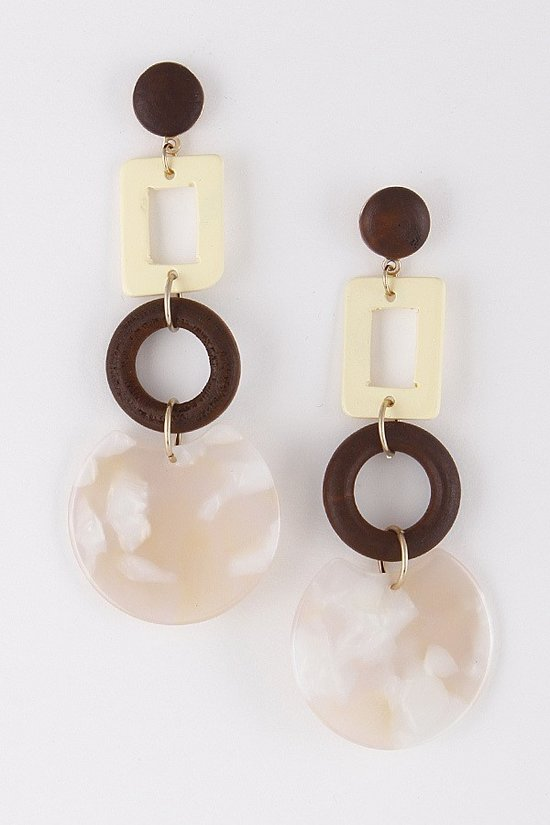 LARGE FOUR CIRCLE HAWAII EARRINGS