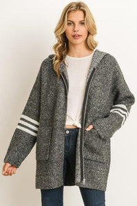 ZIP UP SWEATER SWEATSHIRT