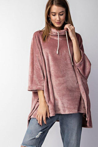 Velvet Wide Sweatshirt