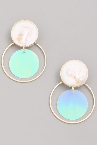 Holographic Circle Earrings