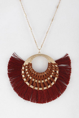 LARGE GEO TASSEL NECKLACE