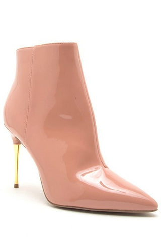 PINK GOLD HEEL PUMPS