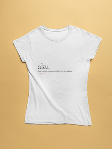 "Short Sleeve White T-Shirt ""Aku"""