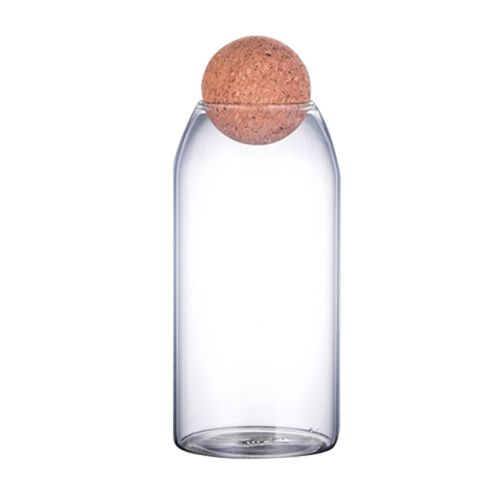 Round Cork Top Borosilicate Glass Containers