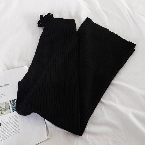 Elastic Knitted Square Pants