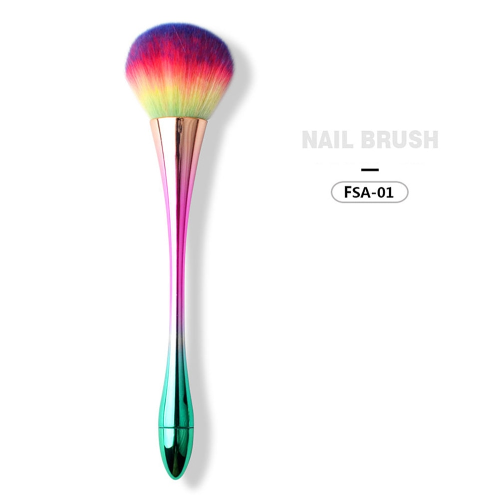 Colorful Soft Nail Powder Brush