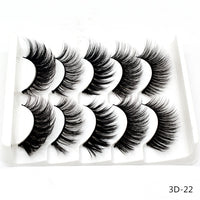 5 Pairs of 3D False Eyelashes