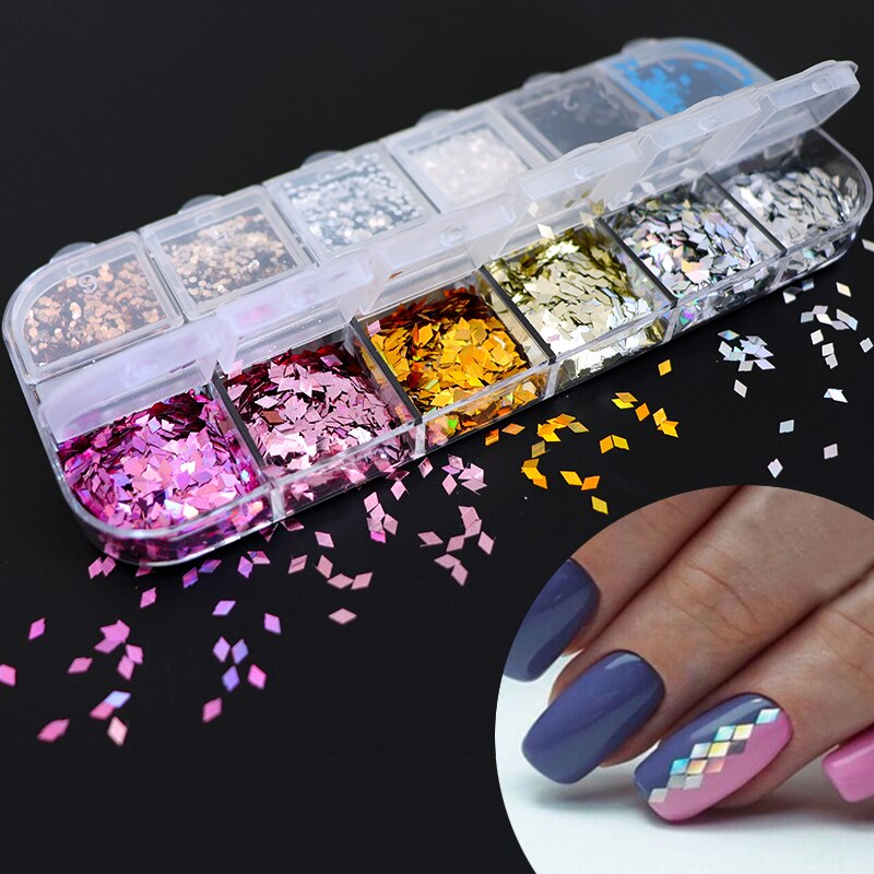 3D Ultra Thin Sequins Nail Art Glitters