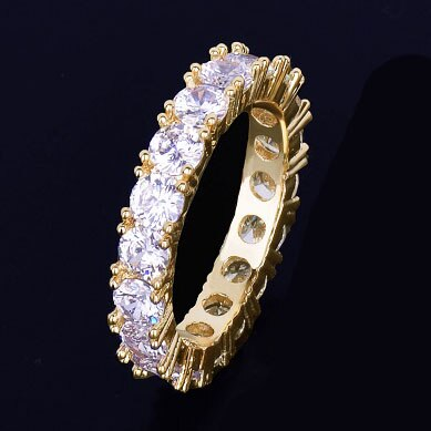 Charm Cubic Zirconia Iced Ring