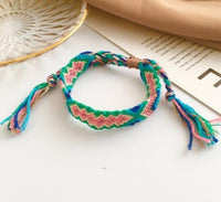 Bohemian Threaded Bracelet