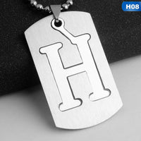 Military Army Initial Letter Dog Tags