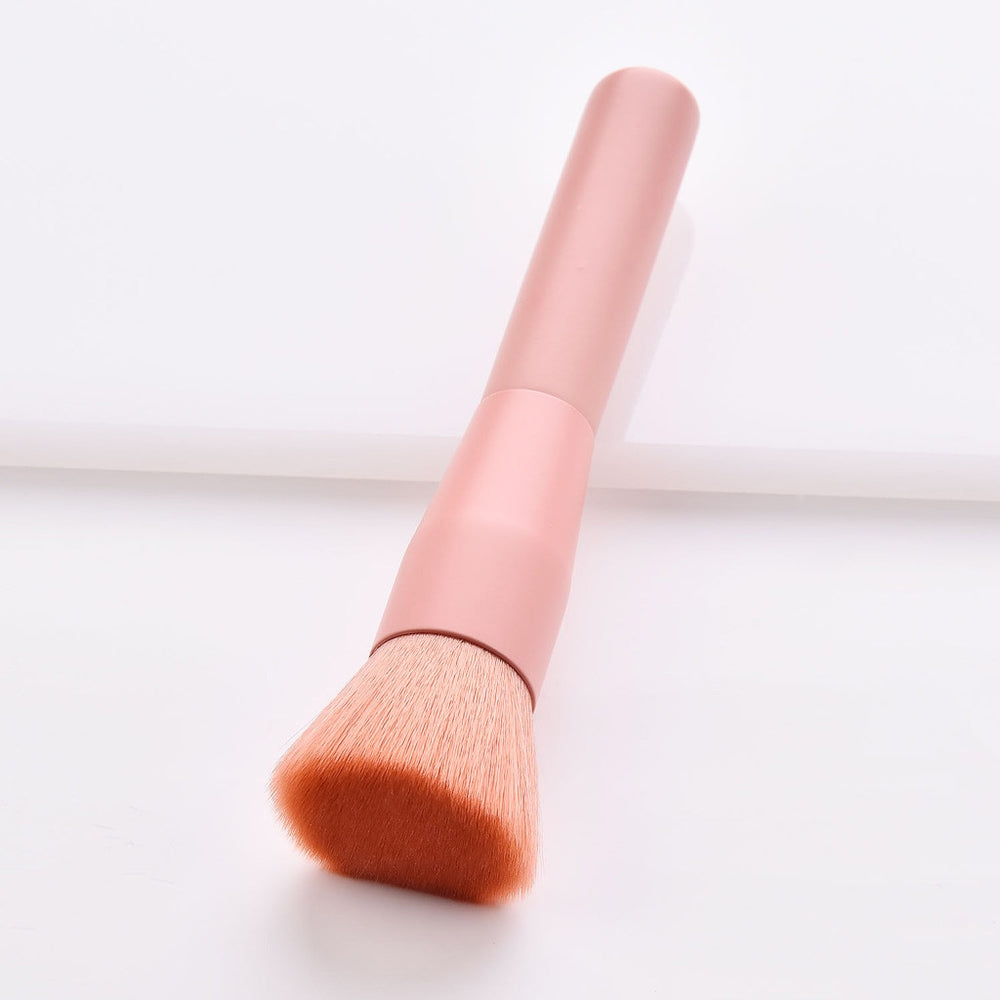 10 Pcs Wooden Foundation Cosmetic Makeup Brush Set