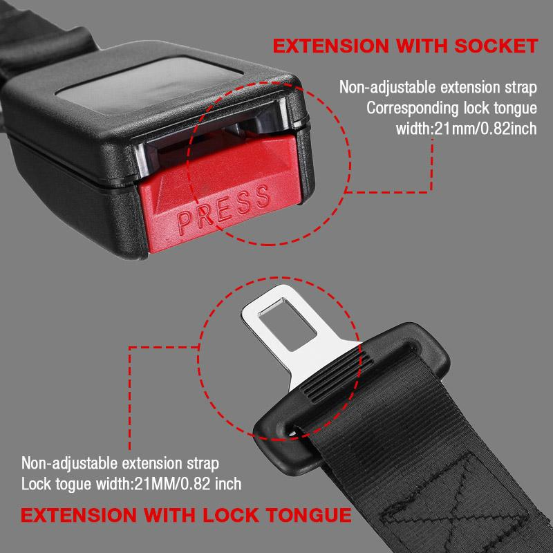Car safety extension belt