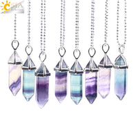 Fluorite Healing Crystal Necklace