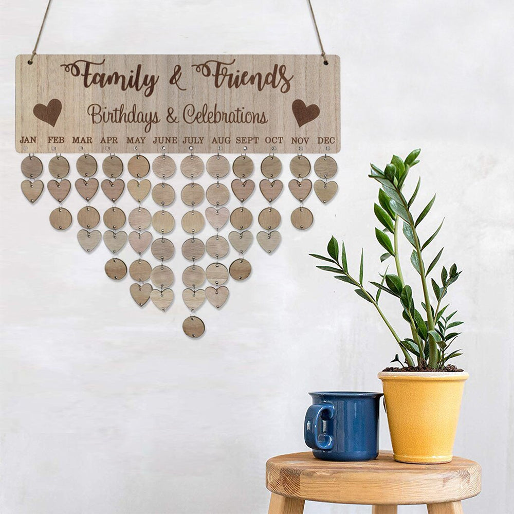 DIY Wooden Birthday Reminder