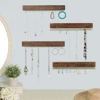 Wooden Adhesive Jewelry Wall Hooks
