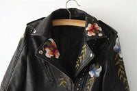 Embroidery Leather Jacket