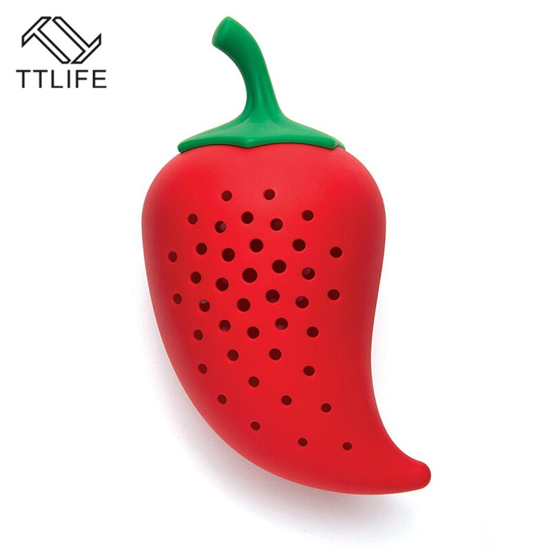 Pepper Shape Silicone Spice Filter