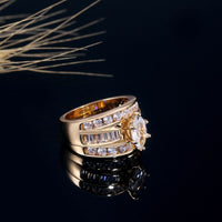 Charm Crystal Classic Ring
