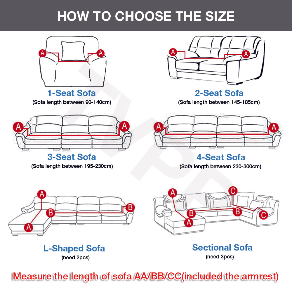 Stretchable elastic sofa covers