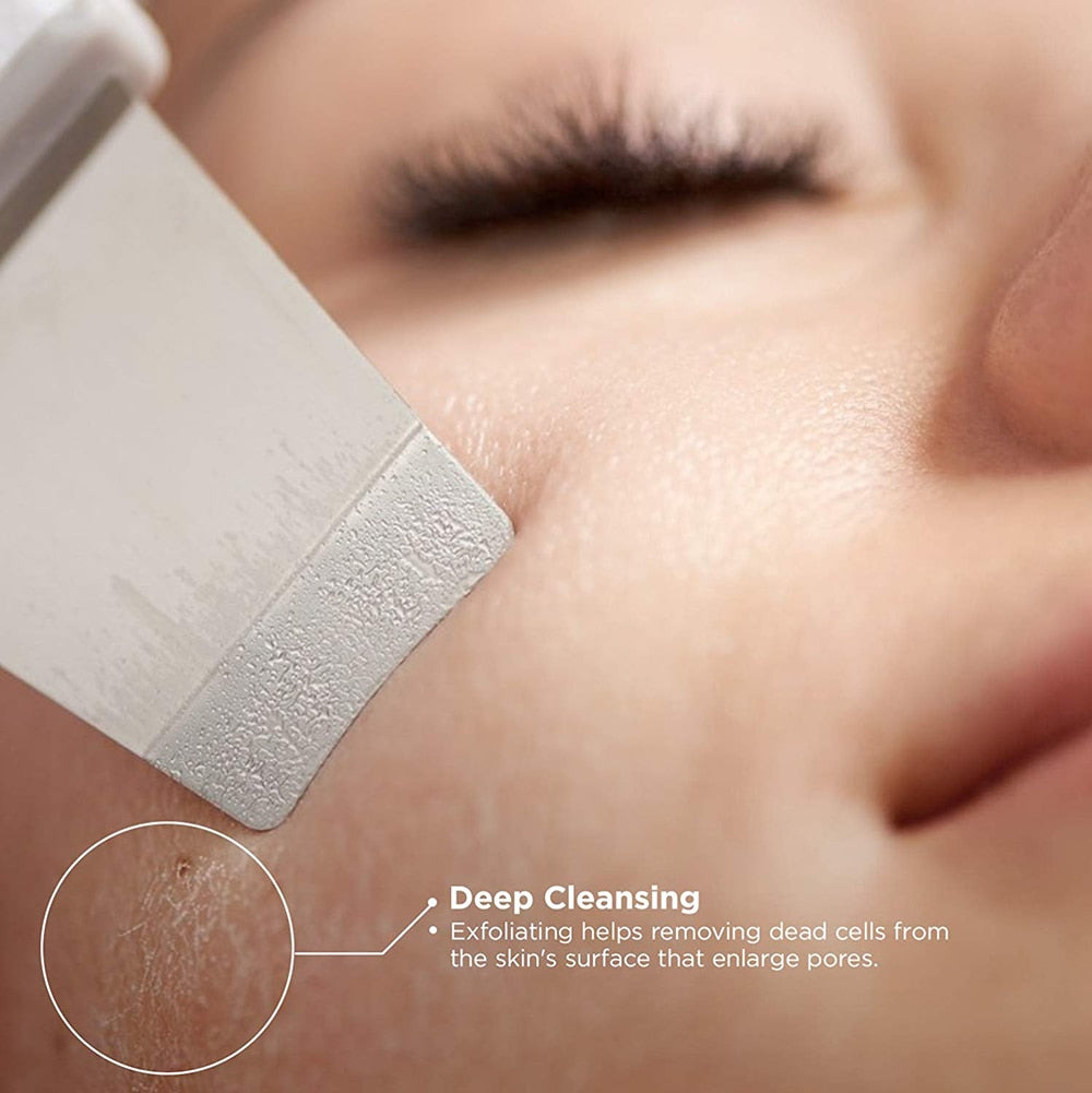 Ultrasonic Face Cleaning Skin Scrubber