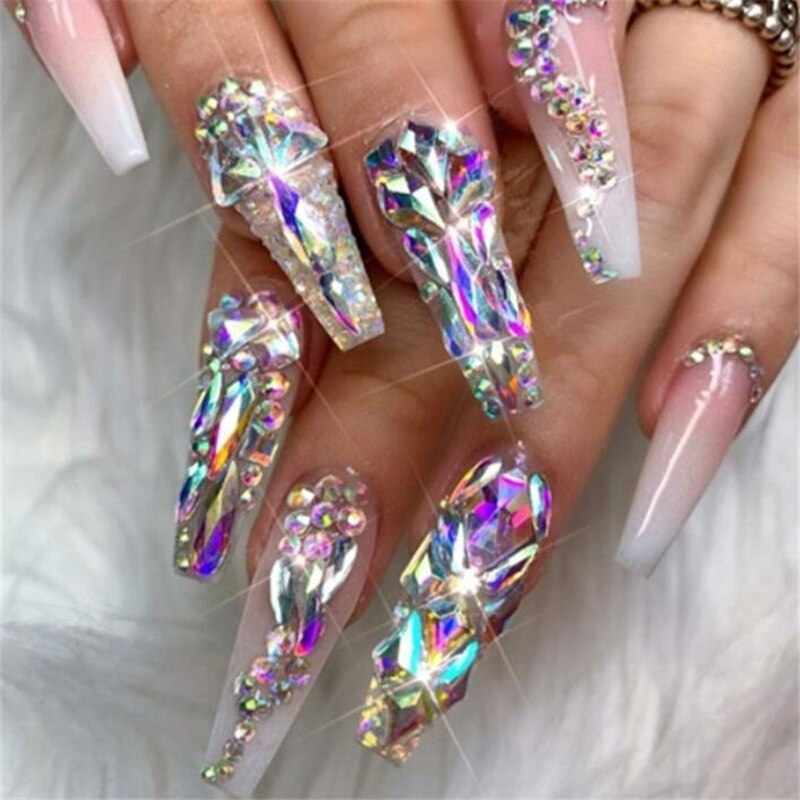 1 Pack Glass Diamond Nails Art