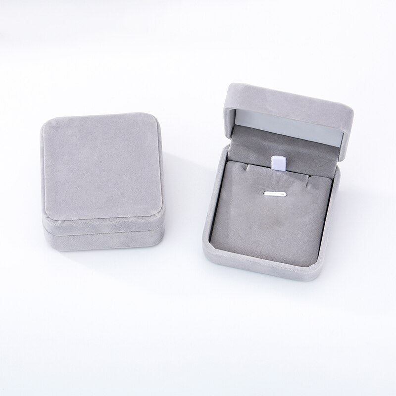 Velvet Cloth Jewelry Gift Boxes
