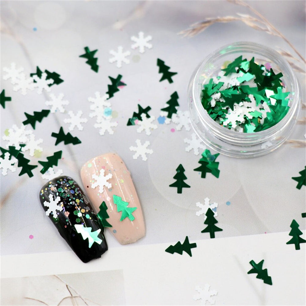 6 Bottles / Christmas Nail Art Sticker