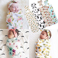 2pcs Newborn Cotton Swaddle Blanket