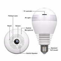 Wireless CCTV camera bulb