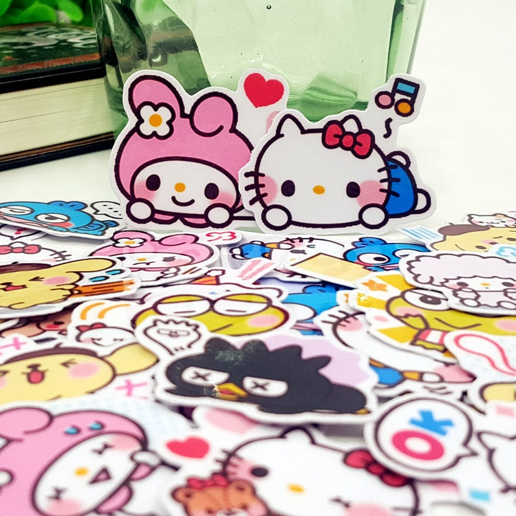 40 Pcs Waterproof Cartoon Scrapbook Stickers