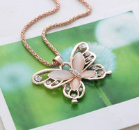 Fashion Opal Butterfly Necklace