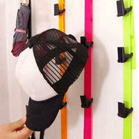 Adjustable over door strap hanger