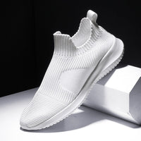 Solid White Knitting Shoes