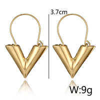 Small V Sleek Minimalist Earrings