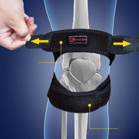 Double strap knee support brace