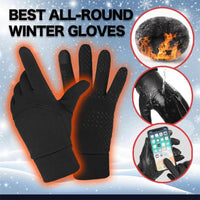 Black Winter Thermal Gloves