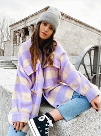 Stylish Wool Checkered Jacket