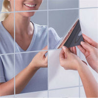 9 pcs/set Wall Mirror Tile Stickers