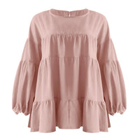 Casual Long Sleeve Ruffled Blouse
