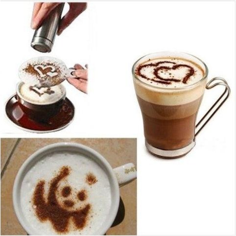 16 Pieces Coffee Stencils
