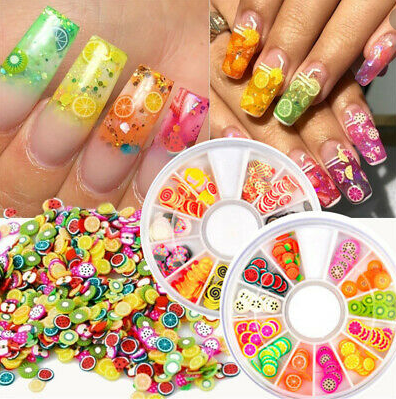 240 Pcs Fruit Slices Sticker Nail Art