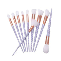 10 Pcs Unicorn Horn Makeup Brushes