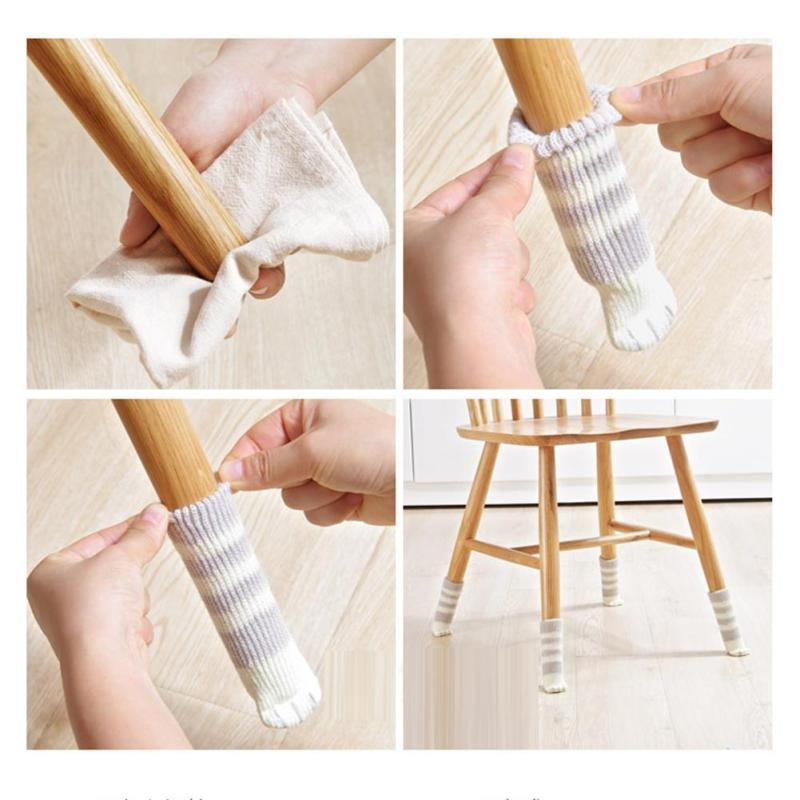4pcs Cat Claws Knit Wool Floor Protector